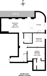 Large floorplan for Crisp Road, Hammersmith, W6