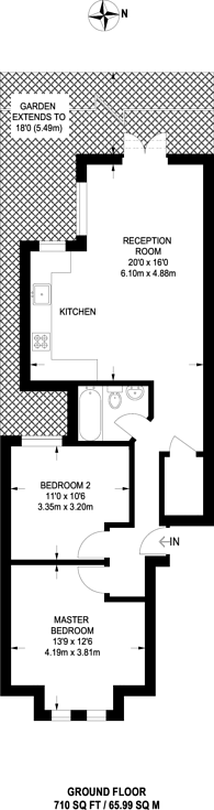 Large floorplan for Winchester Street, Acton, W3