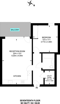 Large floorplan for Discovery tower, Canning Town, E16