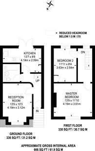 Large floorplan for Canon Road, Bromley, BR1