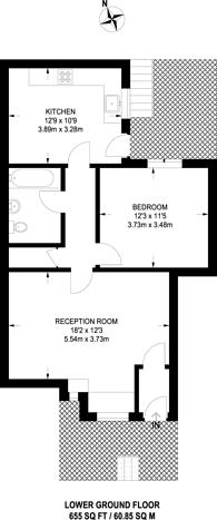 Large floorplan for Drakefield Road, Heaver Estate, SW17