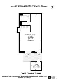 Large floorplan for St Leonards Terrace, Sloane Square, SW3