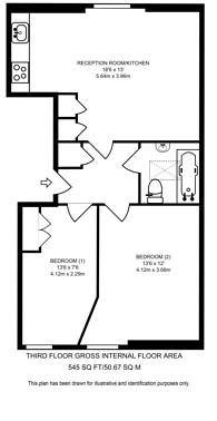 Large floorplan for Gledstanes Road, Barons Court, W14