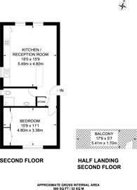 Large floorplan for Langley Avenue, Surbiton, KT6