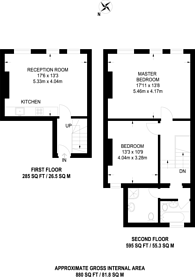 Large floorplan for Ashbourne Parade, Temple Fortune, NW11