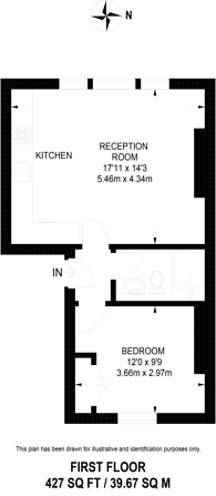 Large floorplan for Portobello Road, Portobello, W11
