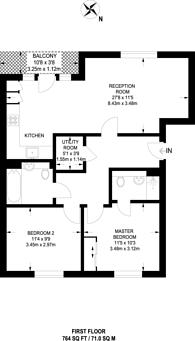 Large floorplan for Arla Place, South Ruislip, HA4