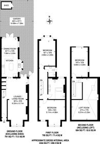 Large floorplan for Harlesden Gardens, Harlesden, NW10