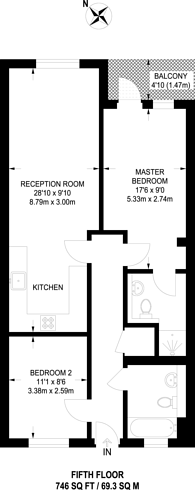 Large floorplan for Southgate Road, Islington, N1