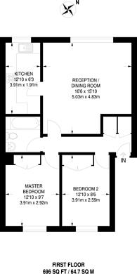 Large floorplan for Harrow Road, Harrow on the Hill, HA0
