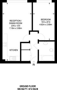 Large floorplan for Shared Ownership, Elephant and Castle, SE11