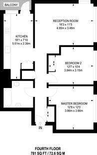Large floorplan for Haberdasher Street, Old Street, N1