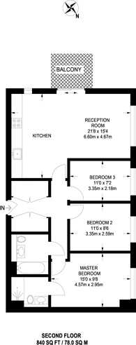 Large floorplan for Marner Point, Bow, E3