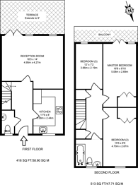 Large floorplan for Thessaly Road, Battersea, SW8
