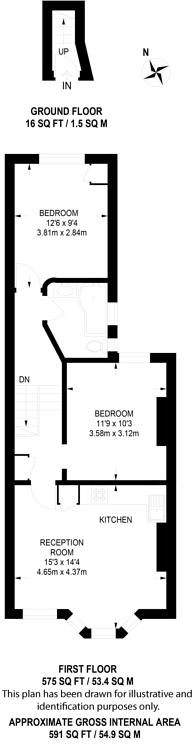 Large floorplan for Douglas Road, Brondesbury, NW6