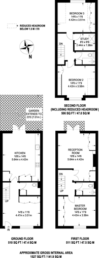 Large floorplan for Priory Grove School, Stockwell, SW8