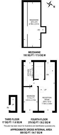 Large floorplan for Cleveland Street, Marylebone, W1T
