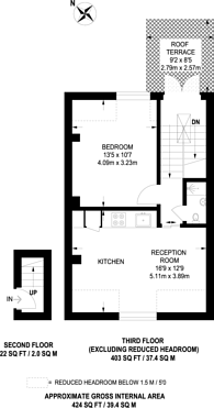 Large floorplan for Upper Richmond Road, Putney, SW15