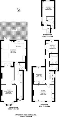 Large floorplan for Ellingham Road, Shepherd's Bush, W12