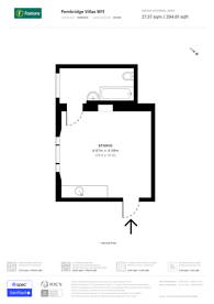 Large floorplan for Notting Hill, Notting Hill, W11