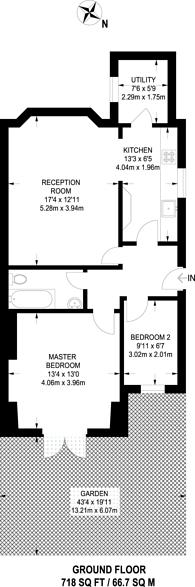 Large floorplan for Woodland Road, New Southgate, N11