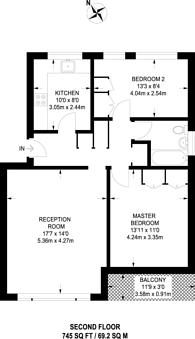 Large floorplan for Jordans Close, Boxgrove, GU1