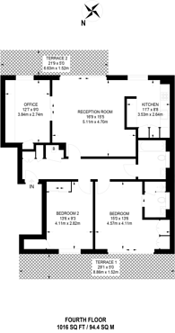 Large floorplan for Tiltman Place, Finsbury Park, N7