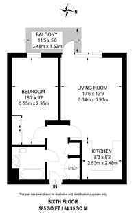 Large floorplan for Smithfield Square, Hornsey, N8