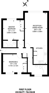 Large floorplan for Wood End Road, Sudbury, HA1