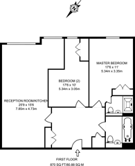 Large floorplan for Heathside Crescent, Woking, GU22