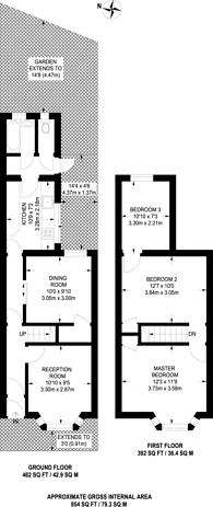 Large floorplan for Herbert Street, Plaistow, E13