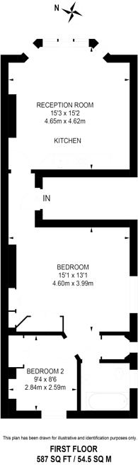 Large floorplan for St Ann's Villas, Holland Park, W11