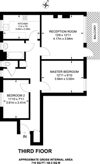 Large floorplan for Friary Estate, Peckham, SE15