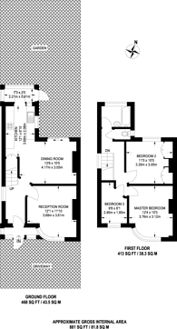 Large floorplan for Eastleigh Avenue, Rayners Lane, HA2