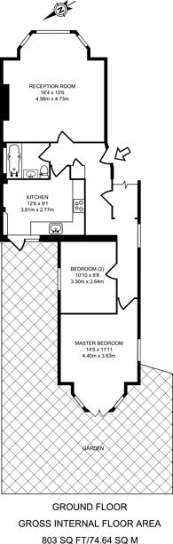 Large floorplan for Green Lanes, Palmers Green, N13