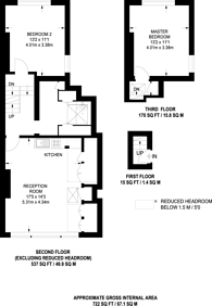 Large floorplan for Callow Street, Chelsea, SW3