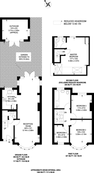 Large floorplan for Monkleigh Road, Morden, SM4