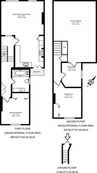 Large floorplan for Friern Road, East Dulwich, SE22