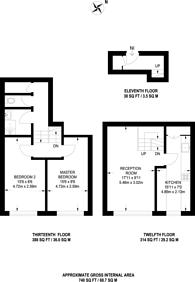 Large floorplan for Bowditch, Deptford, SE8