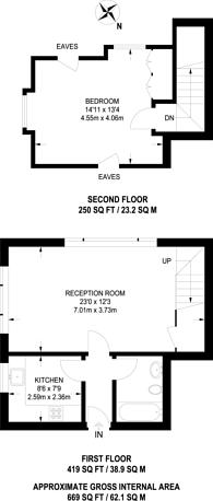 Large floorplan for Cavendish Road, Balham, SW12