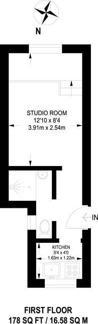Large floorplan for Tolworth Rise North, Tolworth, KT5