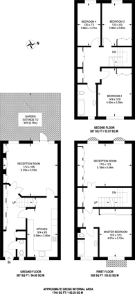 Large floorplan for Marston Close, Swiss Cottage, NW6