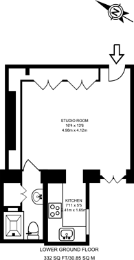 Large floorplan for Monmouth Road, Westbourne Grove, W2
