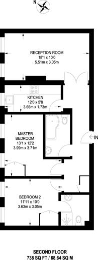 Large floorplan for Amwell Street, Finsbury, EC1R