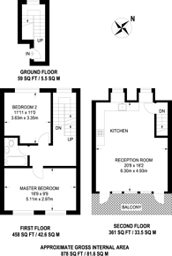Large floorplan for Offord Road, Barnsbury, N1