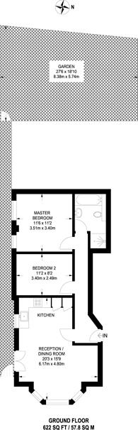 Large floorplan for Birch Grove, Acton, W3