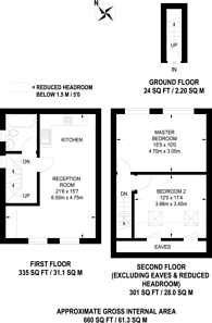 Large floorplan for Deburgh Road, South Wimbledon, SW19