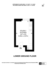Large floorplan for Castletown Road, Barons Court, W14