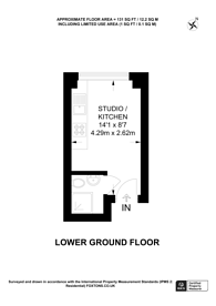 Large floorplan for Castletown Road, West Kensington, W14