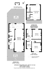 Large floorplan for All Souls Avenue, Kensal Green, NW10